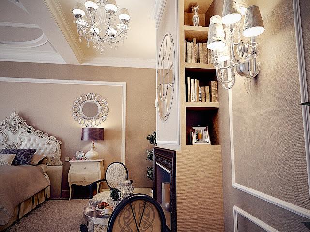 Master bedroom. 3D concept. Svetlana Roma Design