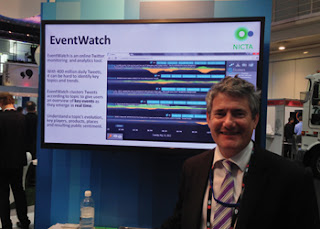 Dr Jon Gray of NICTA with the Event Watch demo