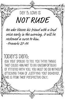 Squishy Dares List : The Love Dare, Day 5