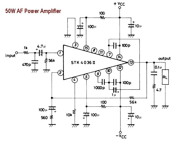 audio stereo power amp circuit
