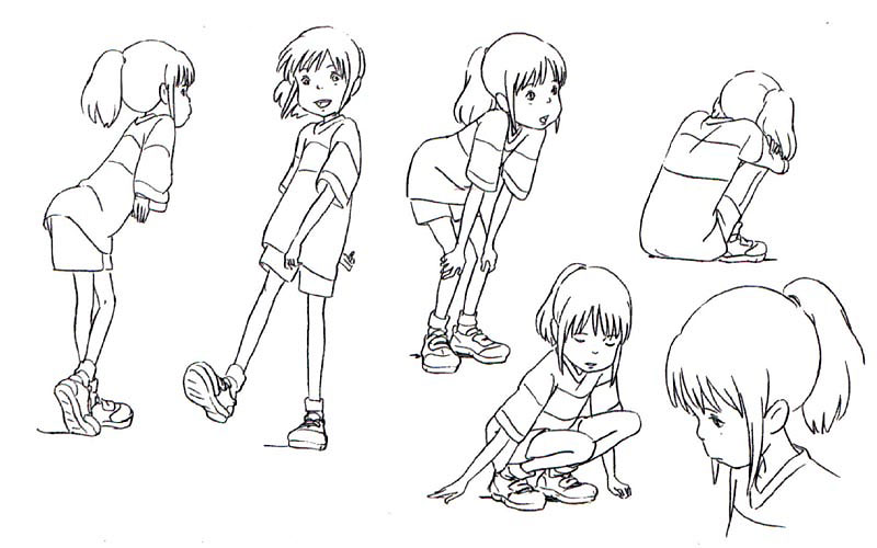 Character Design Studio : Living lines library 千と千尋の神隠し spirited away