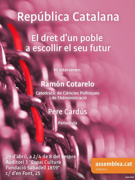 """Hoy en Sabadell, sobre el """"Dret a decidir"""""""