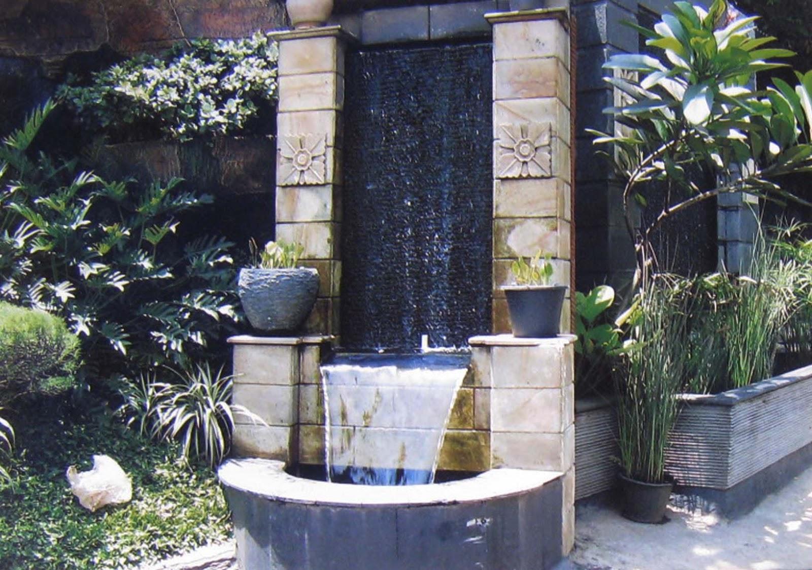 taman tanaman hias kolam batu alam saung dan gazebo