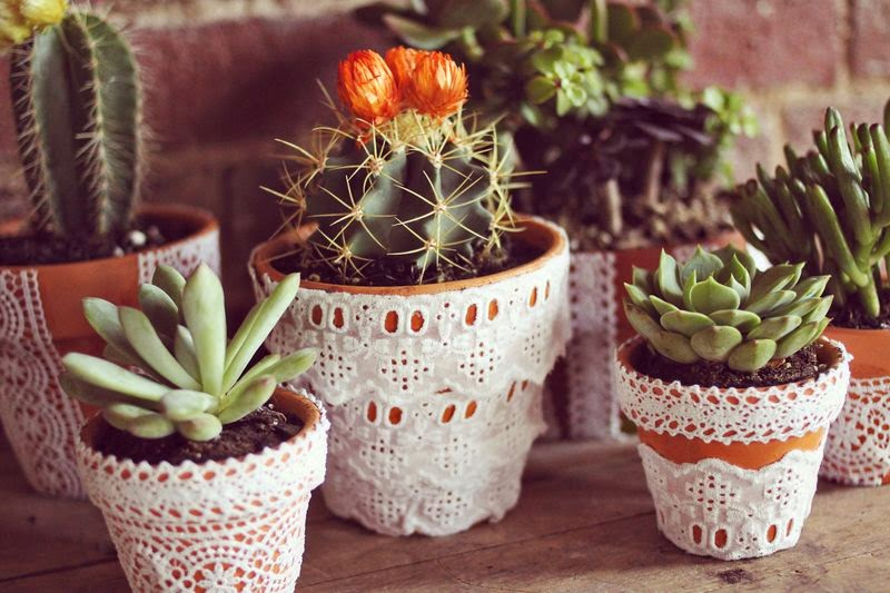 A Beautiful Mess - eyelet planters