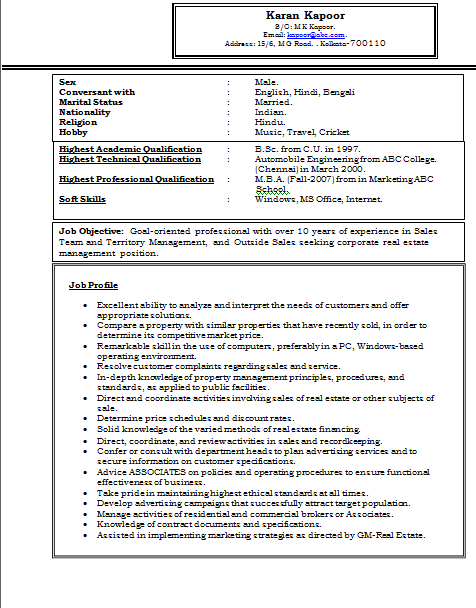 Free Download Experienced MBA Marketing Resume Sample Doc  Resume Sample Doc
