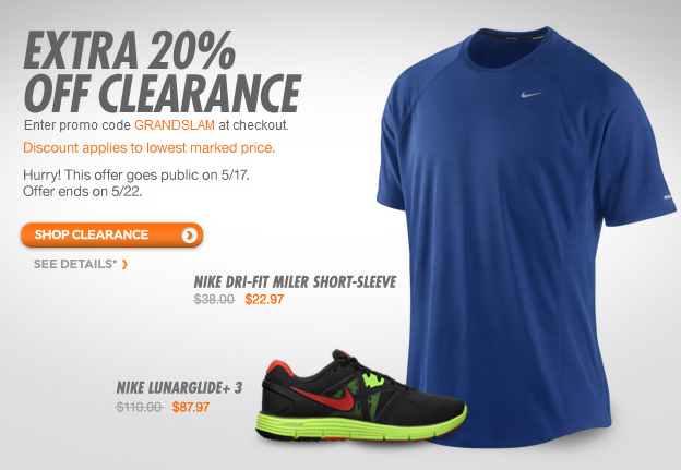 Nike.com - 20% OFF Clearance with promo code