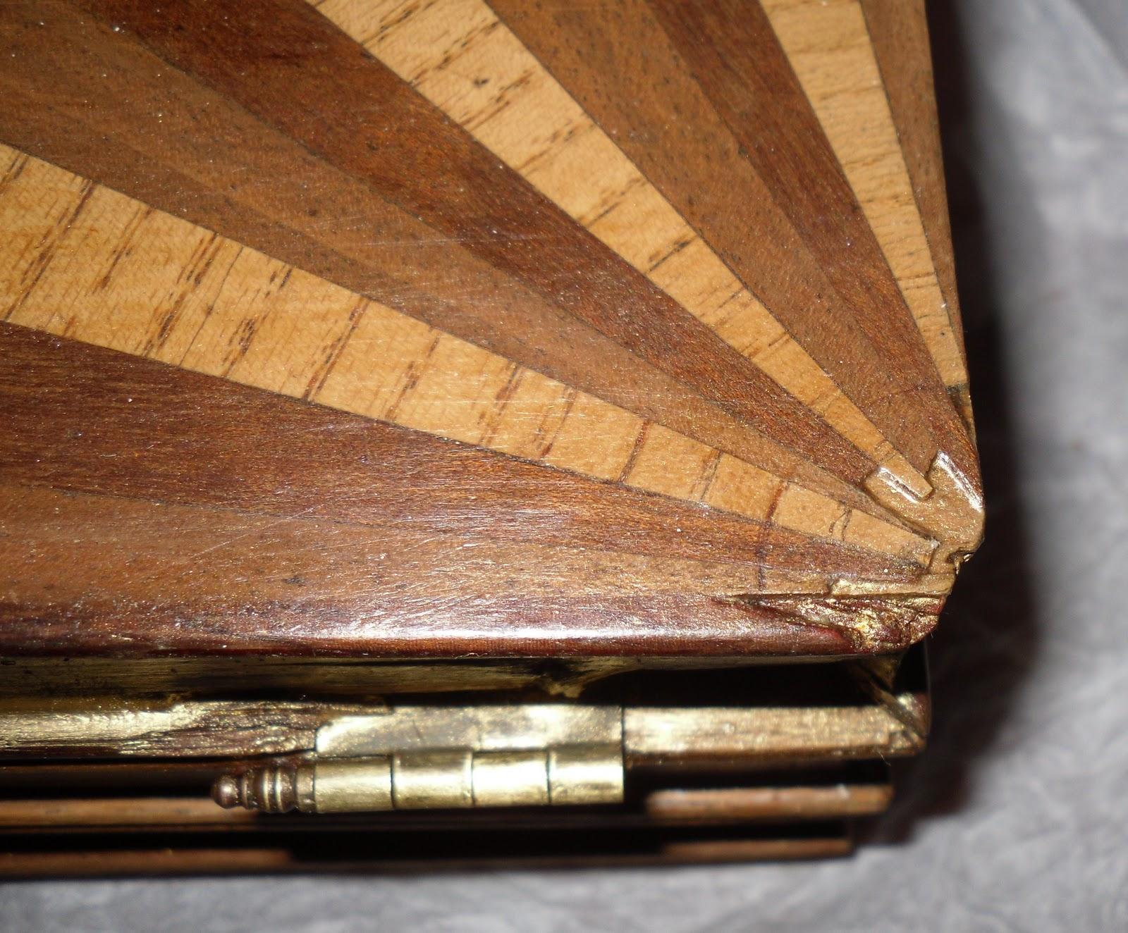 El blog de la restauradora caja tabaquera con marqueter a - Madera para marqueteria ...