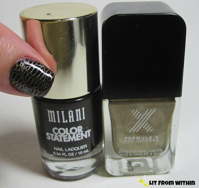 Bottle shot:  Milani Enchanting, and SephoraX Torque.