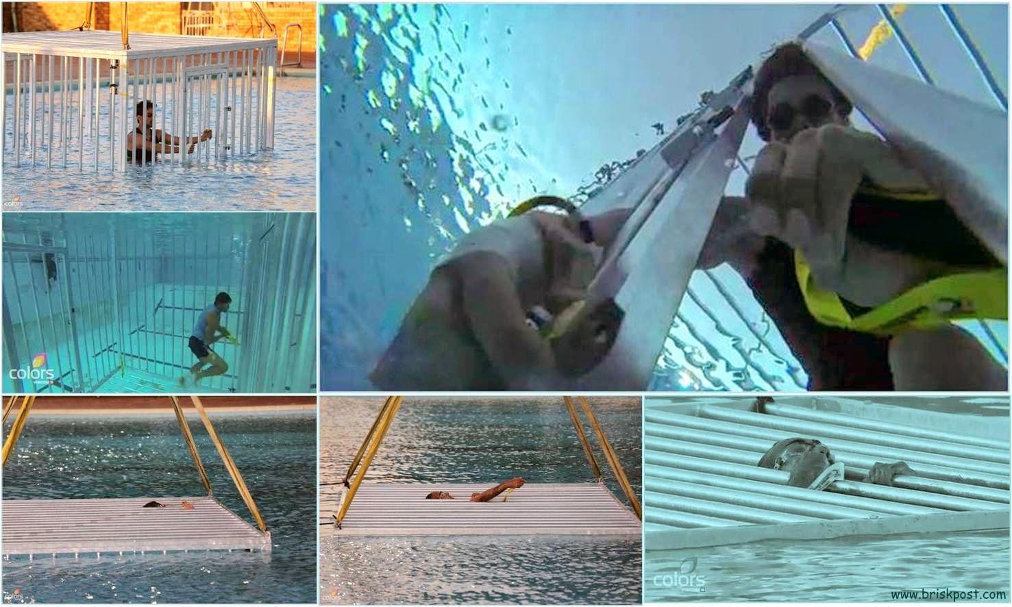 Rajneesh and other contetsants during underwater stunt in Khatron Ke Khiladi Darr Ka Blockbuster
