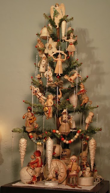 Shabby in love christmas tree decorating ideas