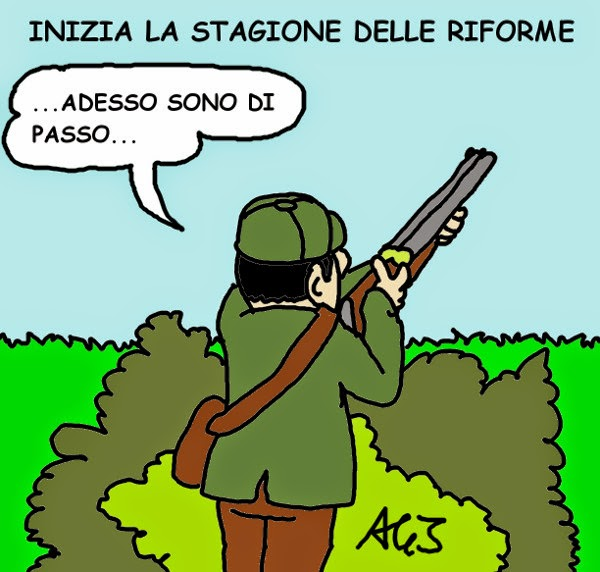 Italicum, Renzi, riforme, PD, vignetta satira
