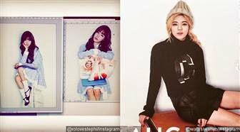 Foto Tiffany & Hyoyeon untuk kalender SNSD 2015