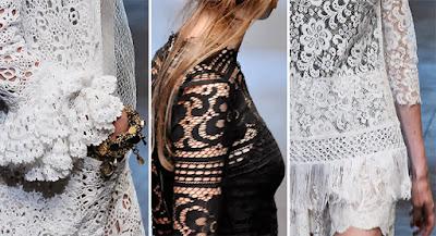 HVB vintage wedding blog, lace wedding dresses feature - Dolce & Gabbana lace detail