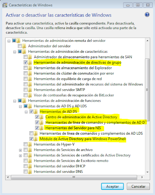 Administar Zentyal PDC desde Windows 7