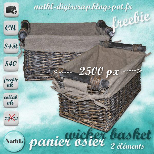 wicker basket - panier osier NathL-panierosier-CU-freebie