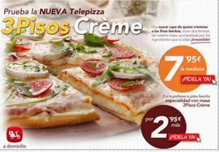 Ahorro en moda belleza salud y m s nueva telepizza 3 for Telepizza 3 pisos