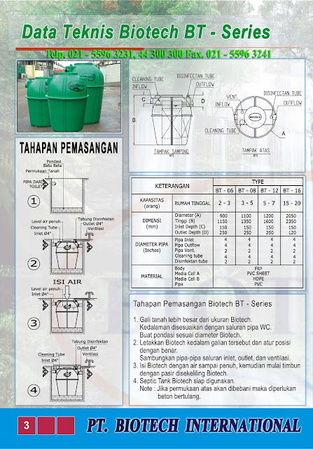 cara pasang septik tank biotech, cara kerja septic tank biotek, rc, bt, stp, ipal, toilet portable fibreglass, bubuk bakteri pengurai feses, bacteria powder