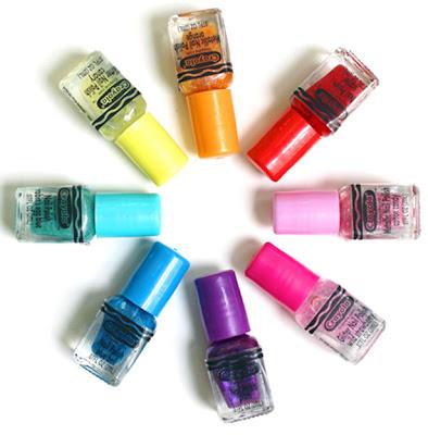 Crayola nail polishes