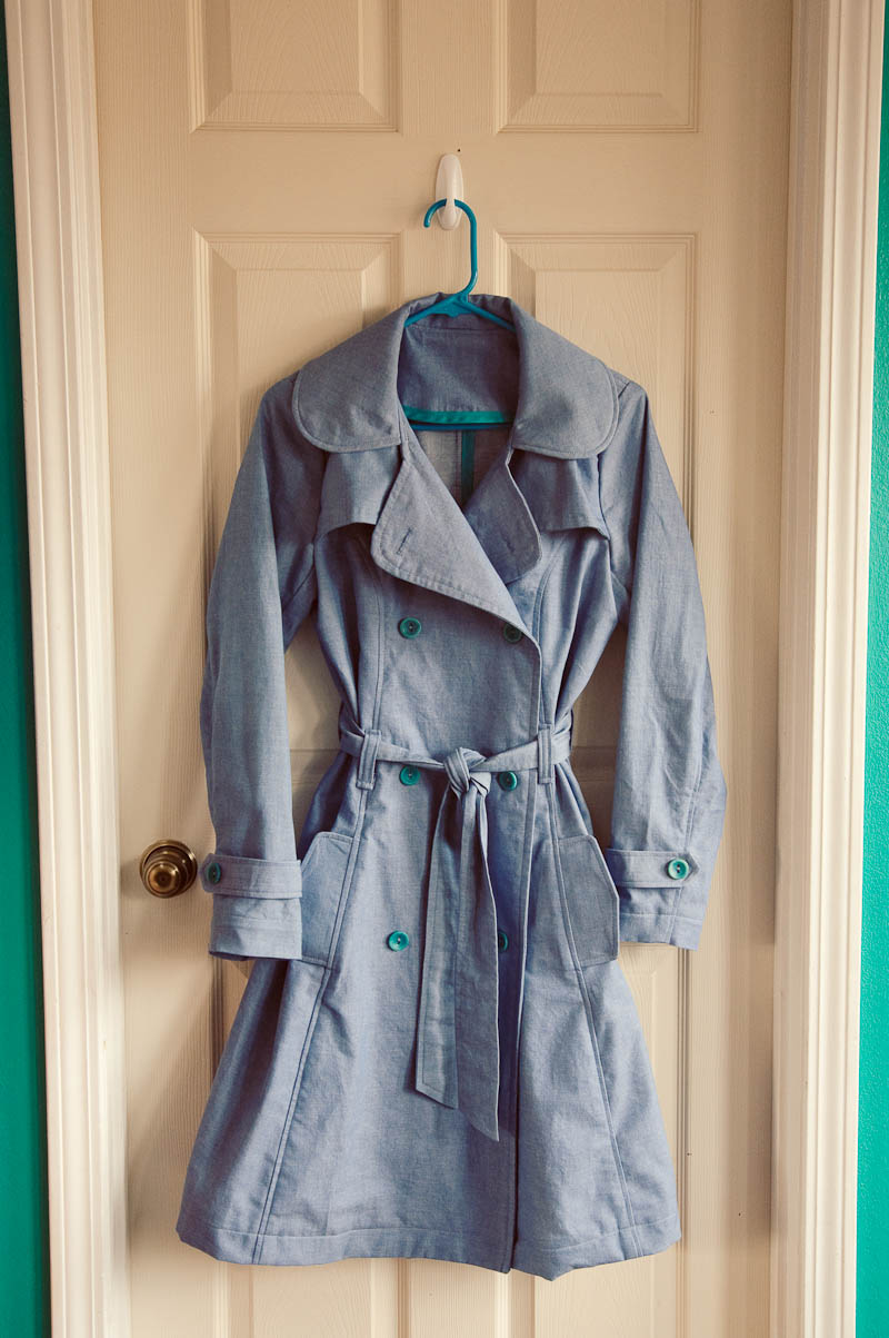 how to cut and sew a trench coat