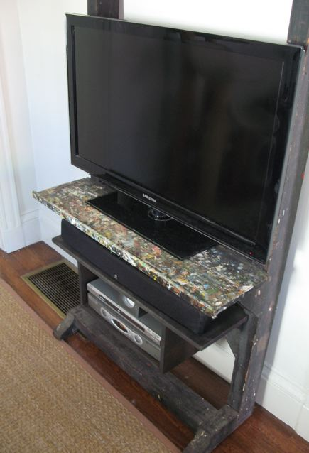 how to build an easel tv stand