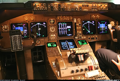 Simulando o voo BA0247: de Heathrow a Guarulhos no Boeing 747  Cockpit+after+start