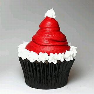 Cupcakes o Magdalenas de Navidad, parte 1