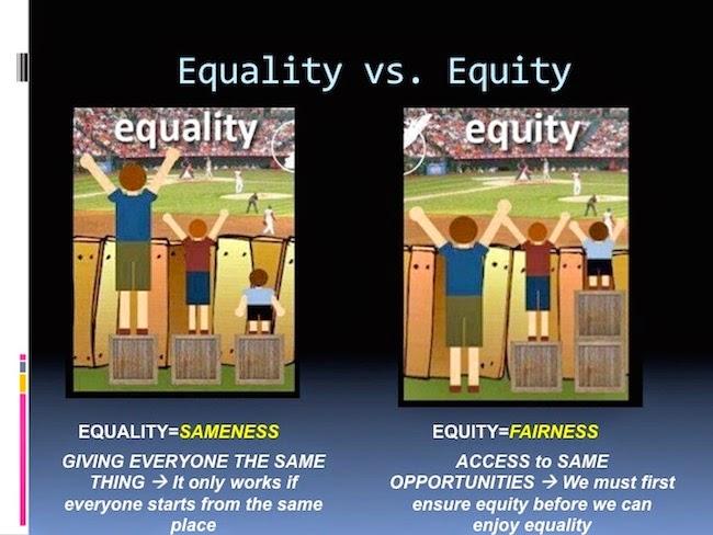 Igualdad no es equidad