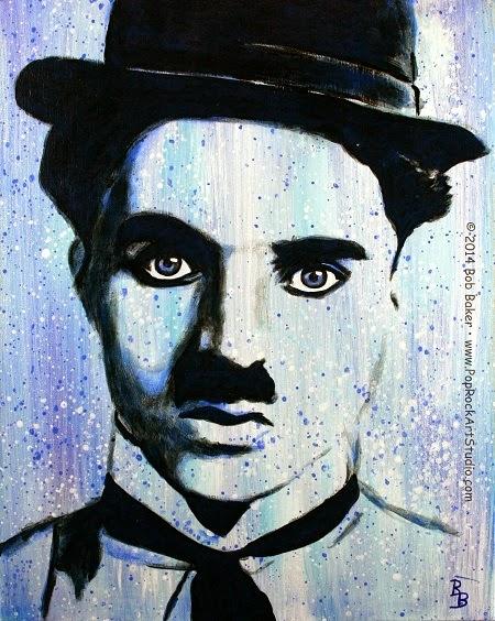 Charlie Chaplin Art, Little Tramp Portrait