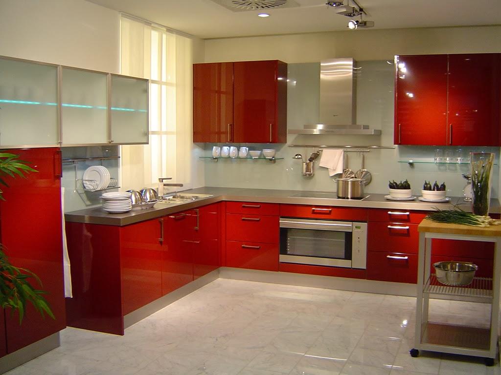 Modern Red Kitchen Interior Design