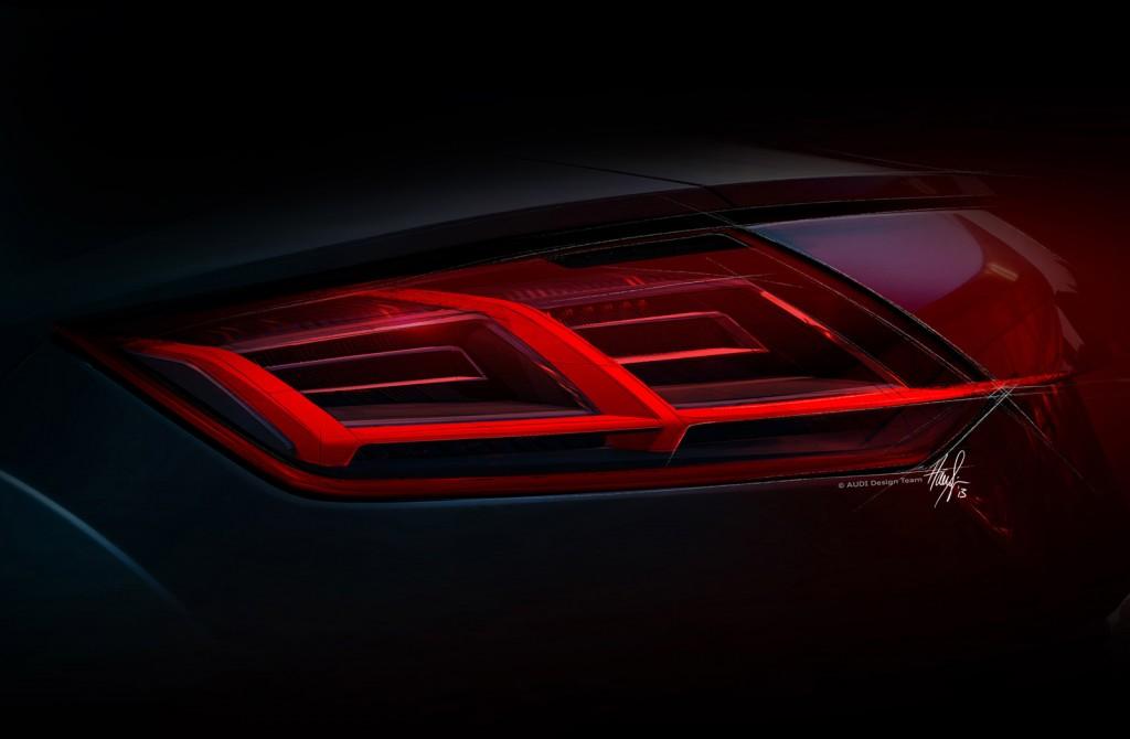 Novo Audi TT 2015 - lanternas traseiras em LED