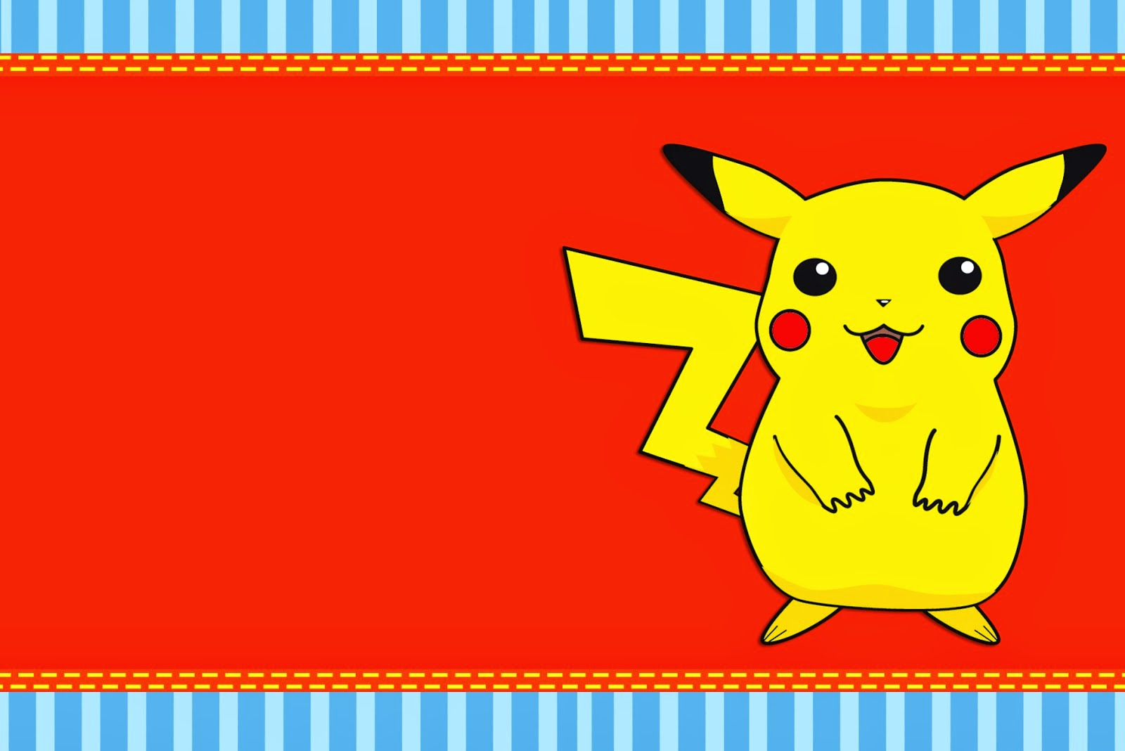Pokemon: Free Printable Invitations, Labels or Cards.