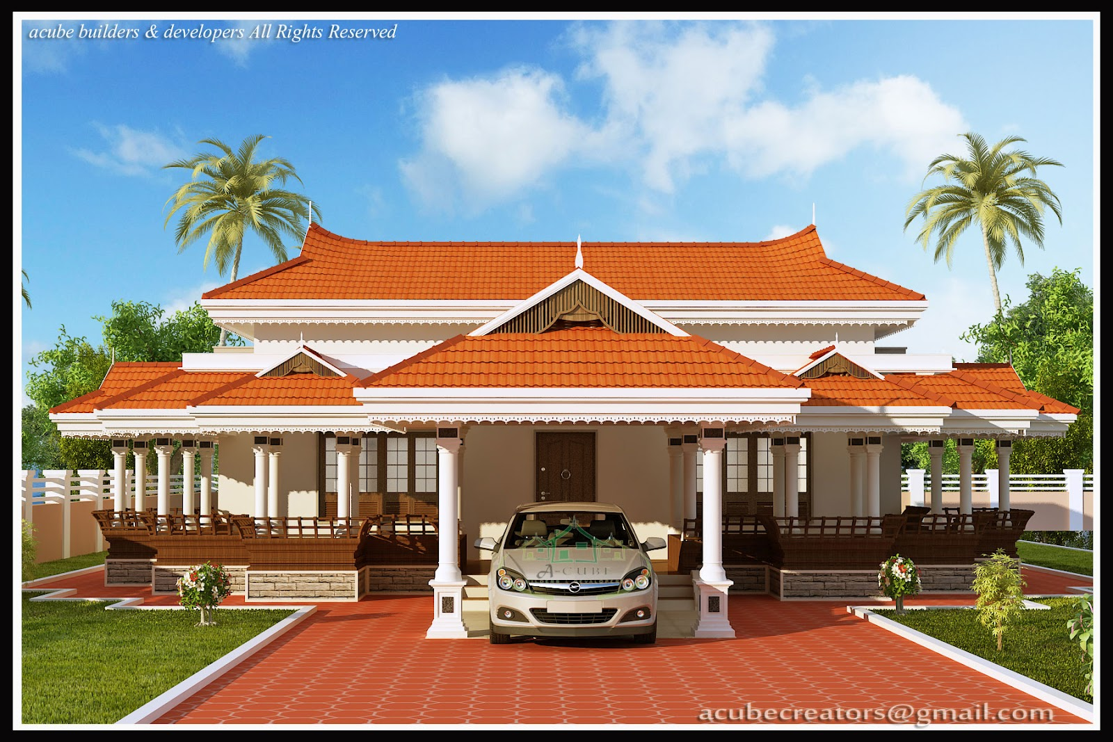 Kerala model house 2292 sq ft plan 120 acube for Kerala model house plans 1500 sq ft