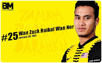 wan zack haikal bersama pasukan Malaysia