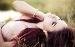 Girl In The Grass Red Hair Look Glamour HD Love Wallpaper