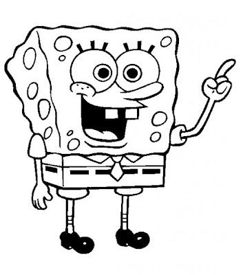 Coloring Pages of Spongebob squarepants for little Kids