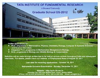 Tata Institute of Fundamental Research JRF