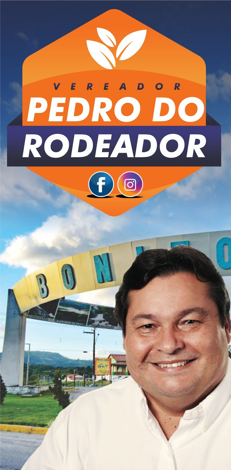 Curta a Fan Page do Vereador Pedro do Rodeador