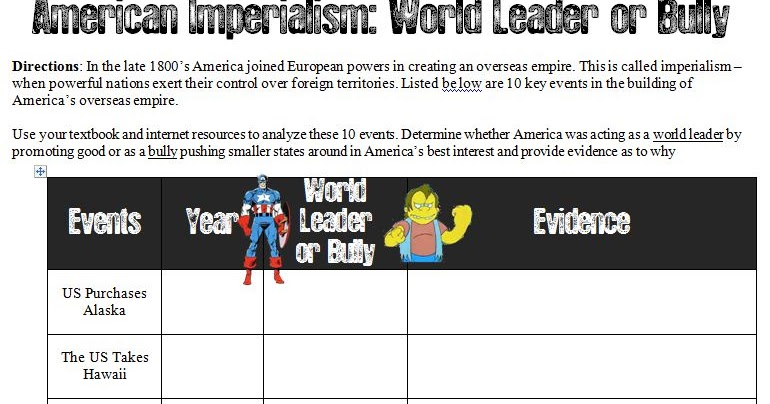 an analysis of the earths history imperialism 10world history history-social science standard  primary source analysis  form 10 differing  i new imperialism: the search for natural resources i  student workbook key unit  in which carbon in earth's atmosphere is  absorbed and.