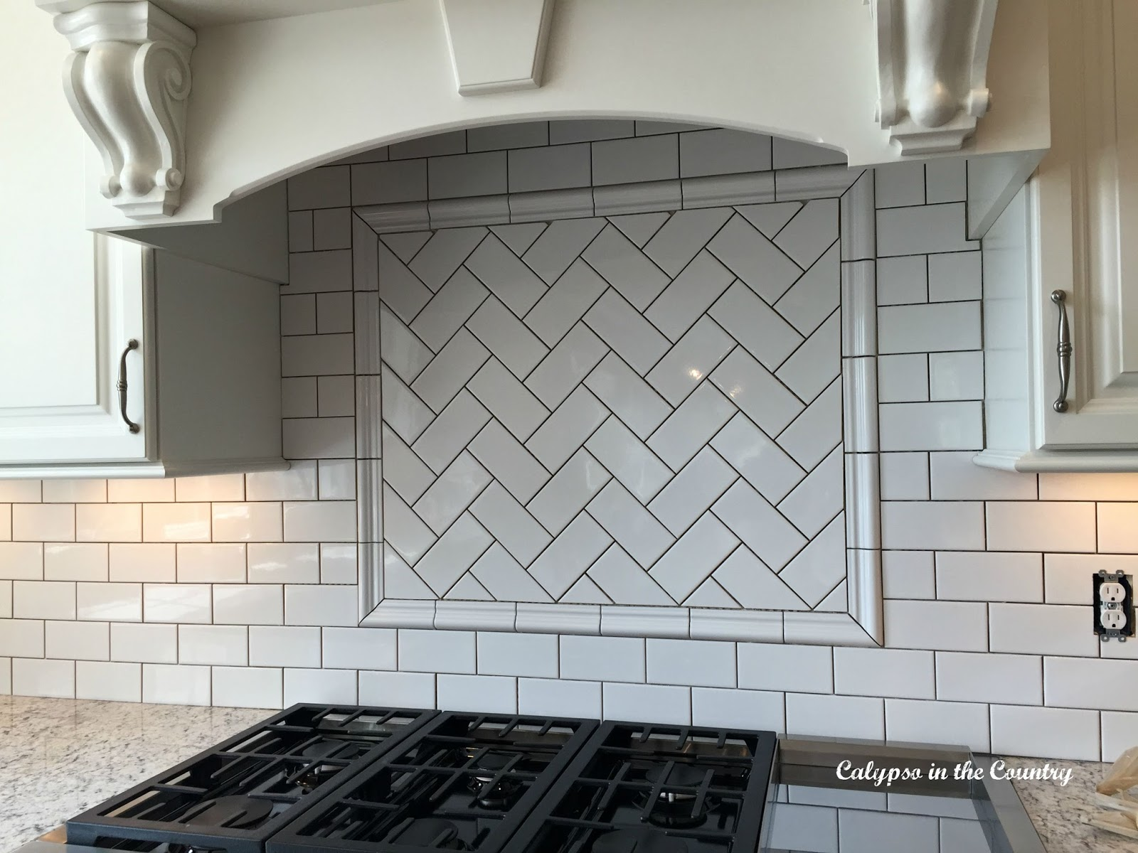 Herringbone subway tile