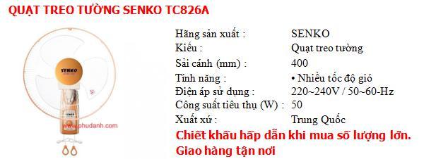 quat treo tuong tc826