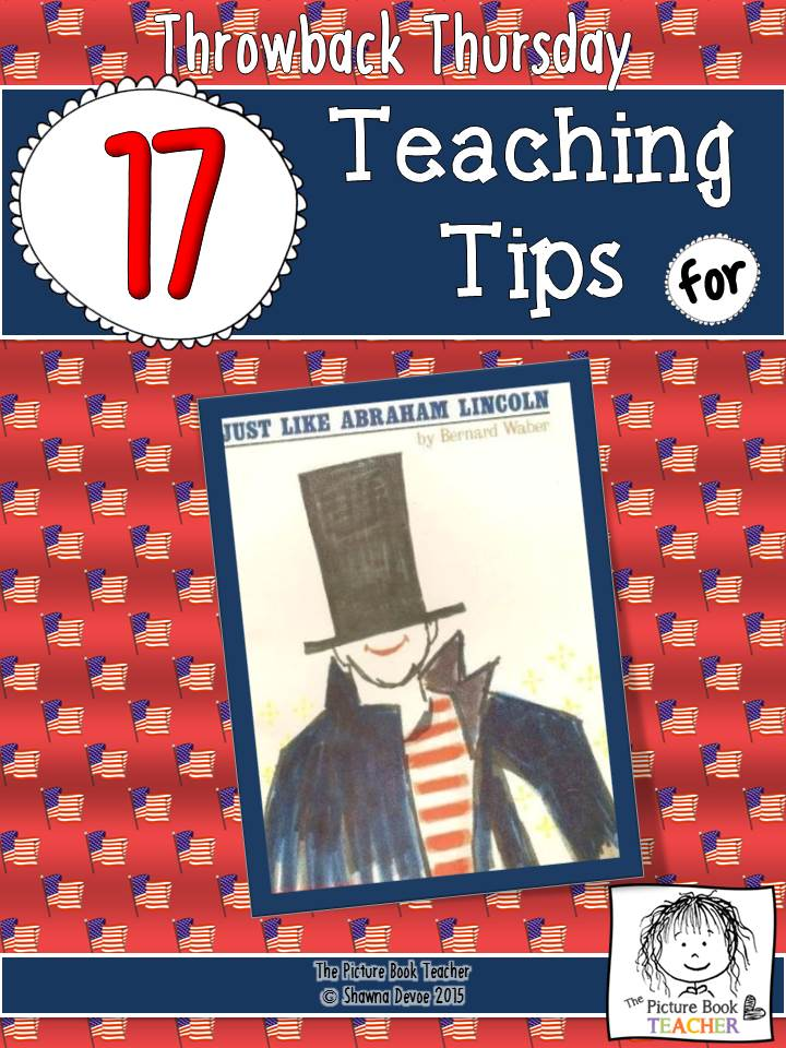 The Picture Book Teacher's 17 teaching tips for the book Just Like Abraham.