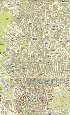 Mapa turístico de Madri