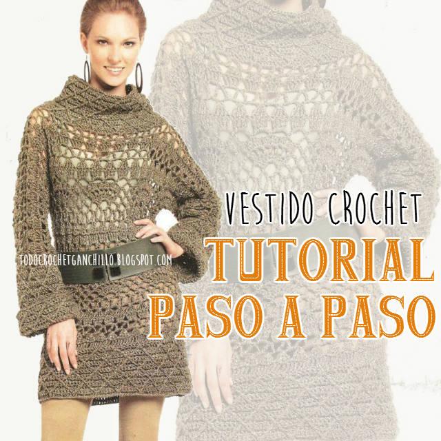 Vestido Ganchillo Moda Otoño / Invierno ~ Tutorial paso a paso ...
