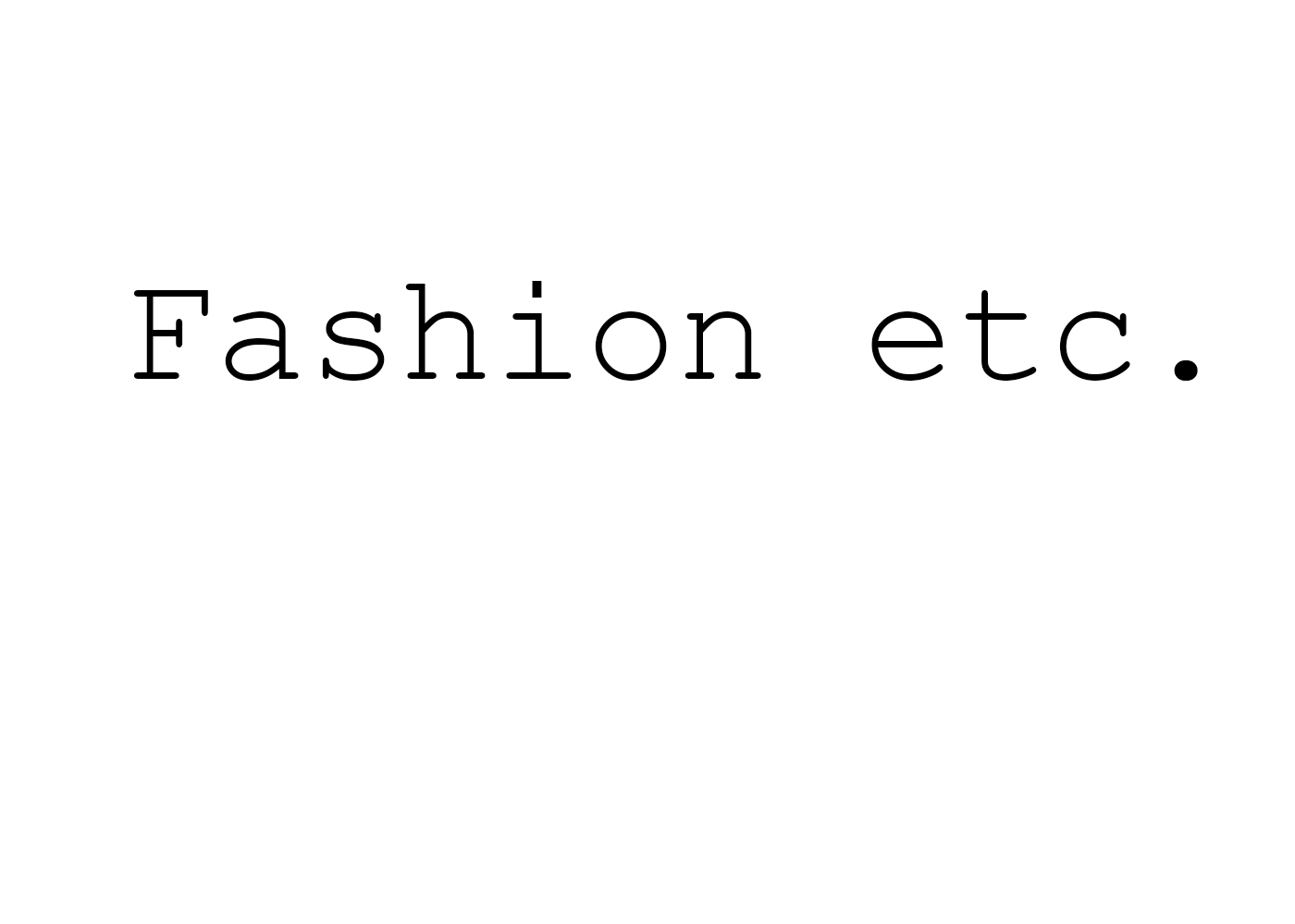 FASHION ETC.
