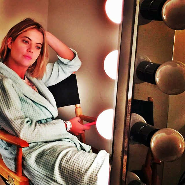 Ashley Benson BTS PLL 6x03