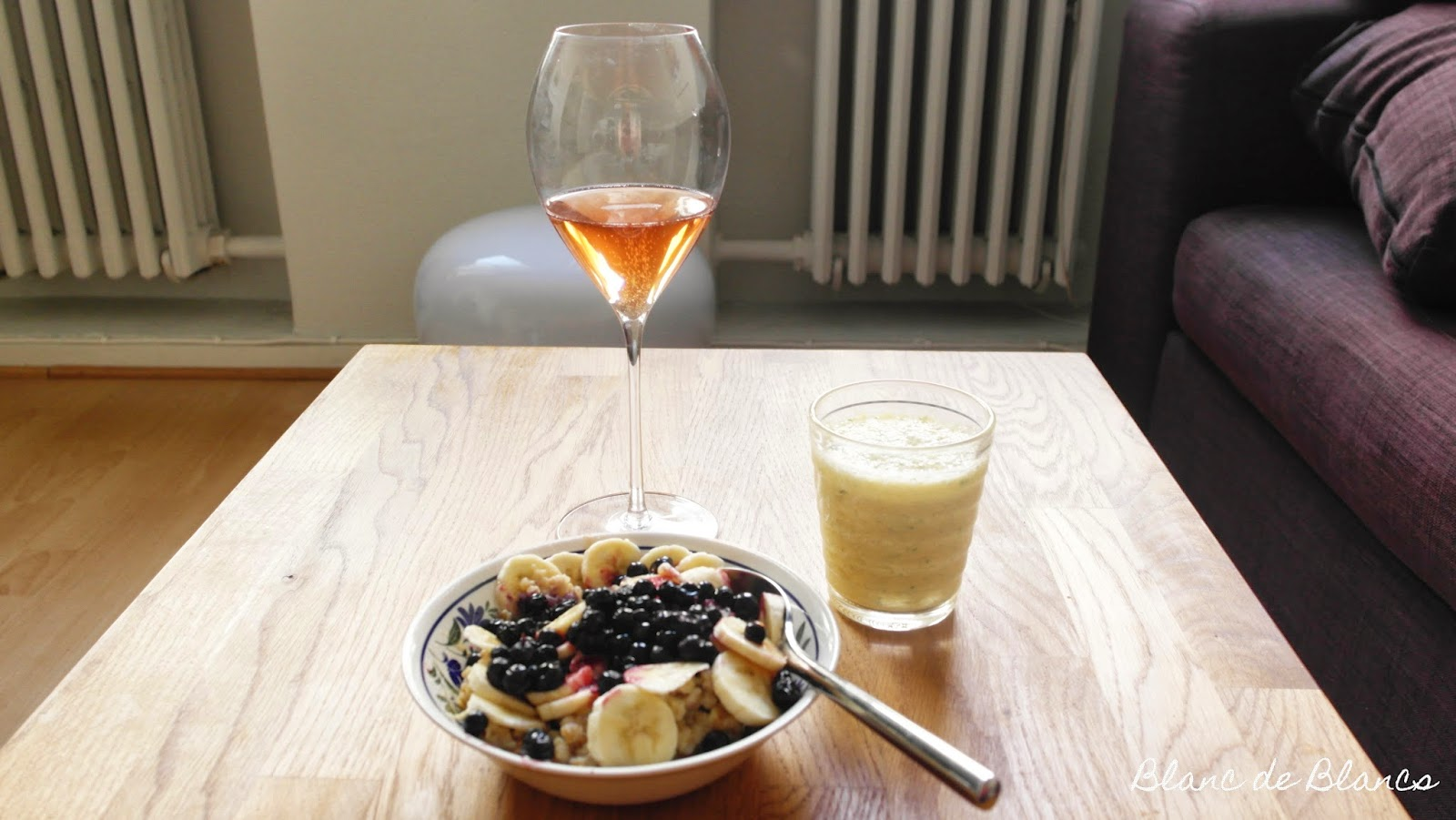 Samppanja-aamiainen puurolla - www.blancdeblancs.fi