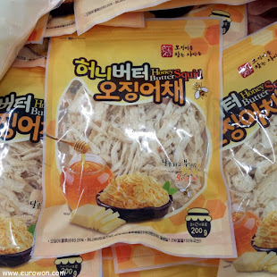 Calamar con miel y mantequilla en un supermercado coreano