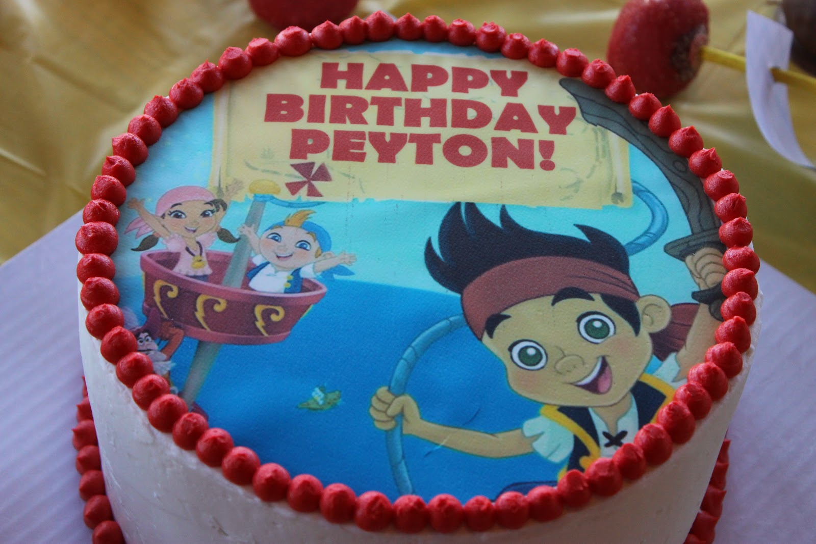 The Simple Cake Jake And The Neverland Pirates Birthday Party