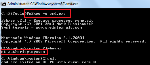 How to Run Program or Batch file under Local System Account