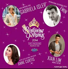 Binibining Pilipinas 2014 coronation night hosts and guests
